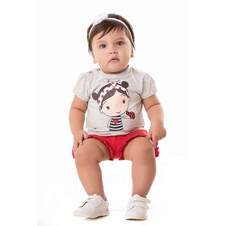 Conjunto bebê joaninha
