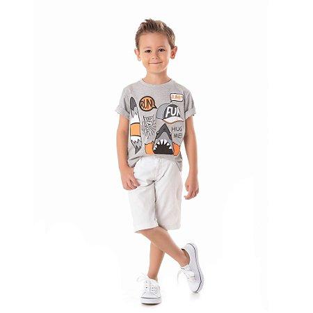 Camiseta infantil prancha tubarão