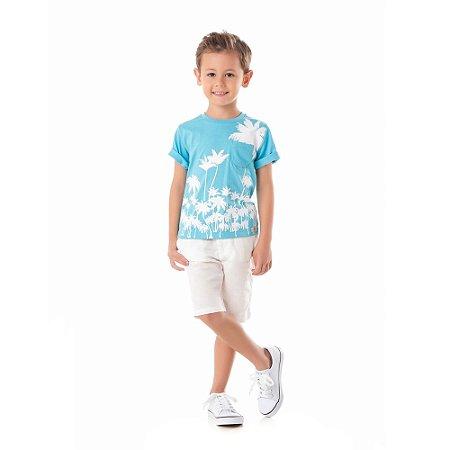Camiseta infantil coqueiros