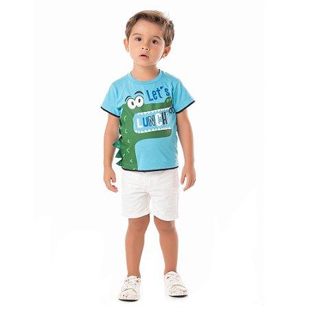 Camiseta infantil jacaré