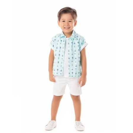 Camisa infantil coqueiros