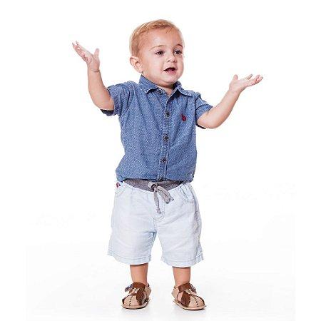 Camisa bebê jeans