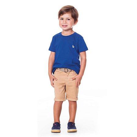 Bermuda infantil sarja brown