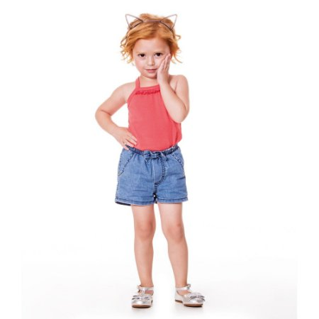 Shorts jeans laço