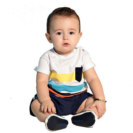 Camiseta bebê listras
