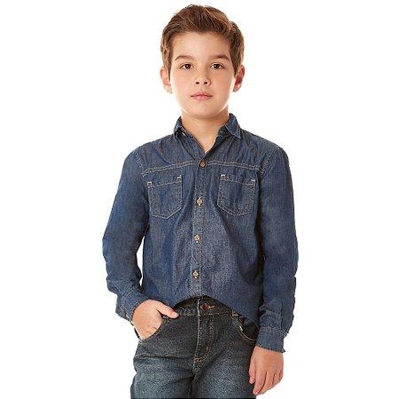 Camisa infantil ML jeans amaciada
