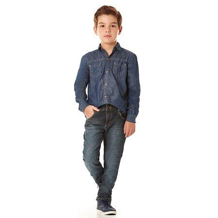 Calça infantil jeans skinny blue black