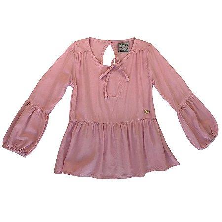 Blusa infantil ML Playground rosa
