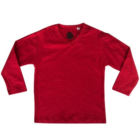 Camiseta infantil ML vermelha
