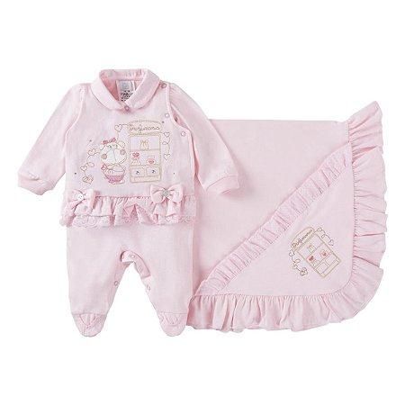 Saída de maternidade menina rosa