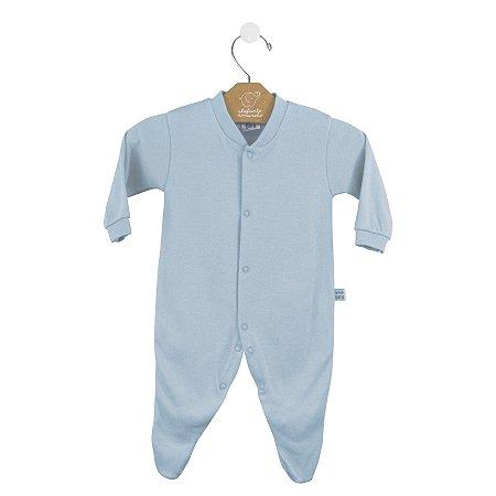 Macacão básico bebê prematuro azul