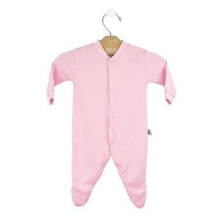 Macacão básico bebê prematuro rosa