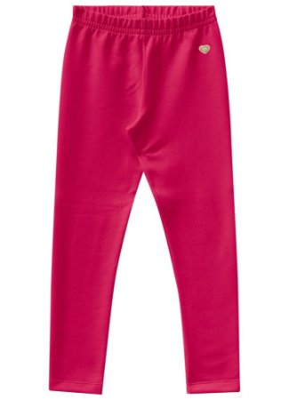 Calça legging infantil peluciada rosa