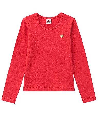 Camiseta infantil manga longa vermelha