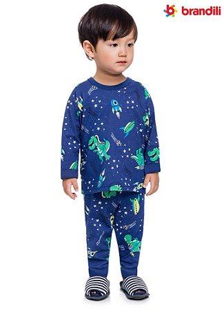 Pijama infantil menino dino espacial
