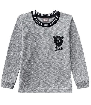 Camiseta malha piquet flamê Mundi