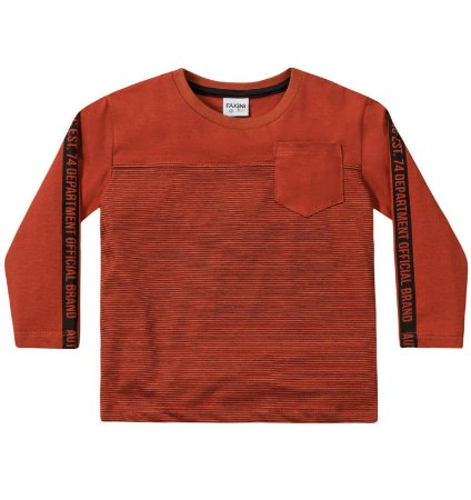 Camiseta ML menino laranja ferrugem