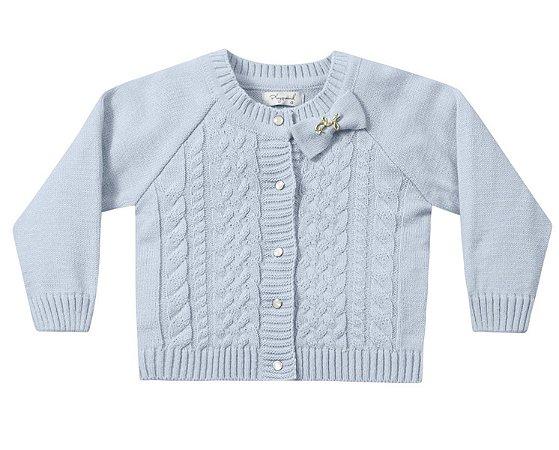 Casaco tricô bebê menina