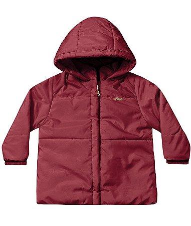 Jaqueta infantil feminina com capuz