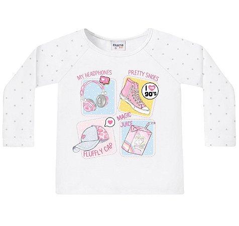 Blusa Infantil ML Coisas de Menina