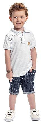 Conjunto infantil masculino com camisa polo