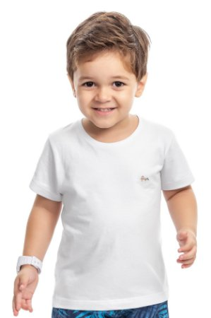 Camiseta básica infantil menino branca