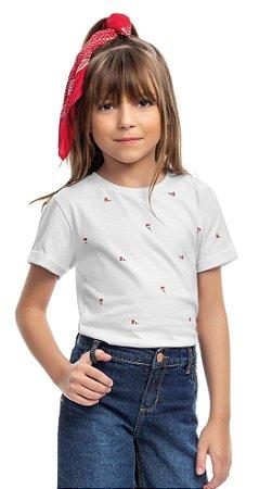 Blusa infantil mini flor - TAL FILHA