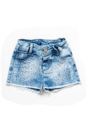 Shorts infantil feminino jeans