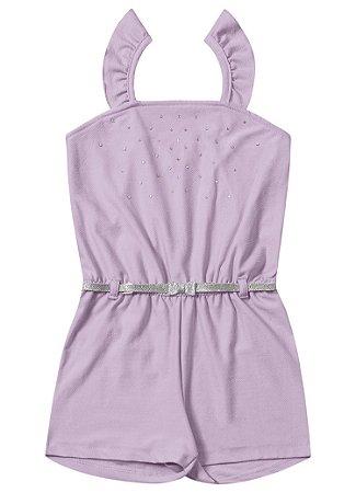 Macaquinho infantil feminino lilás