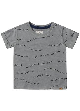 Camiseta bebê cinza