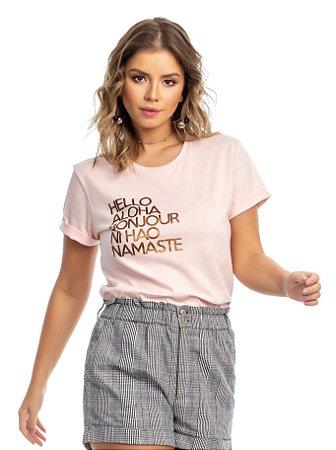Blusa rosé - TAL MÃE