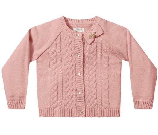 Casaco bebê infantil feminino tricô