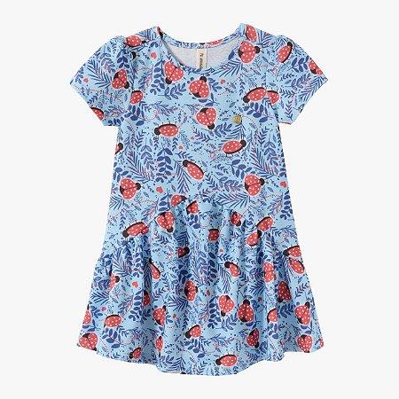 Vestido infantil joaninhas