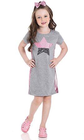 Vestido t-shirt infantil