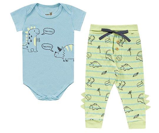 Conjunto body e calça bebê menino