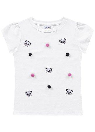 Blusa infantil feminina panda