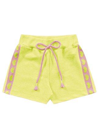Short infantil neon amarelo