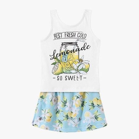 Conjunto infantil feminino limonada