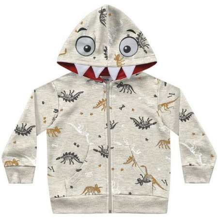 Jaqueta infantil dino com capuz