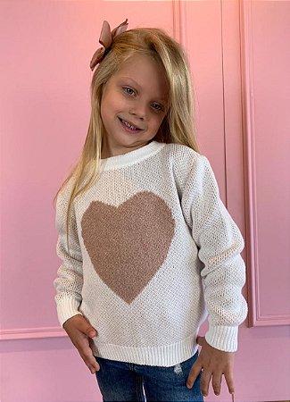 Suéter Infantil Coração