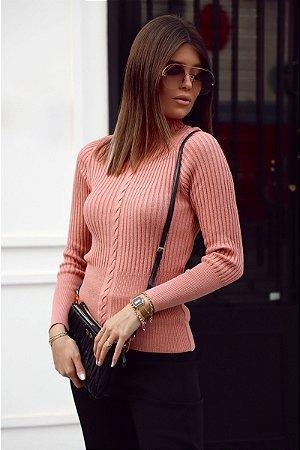 Blusa Tricot Detalhe Trança