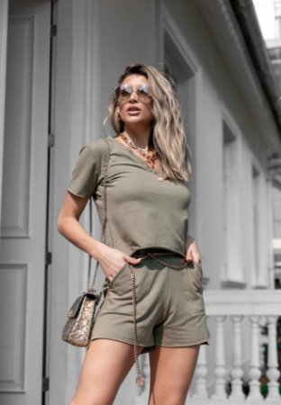Conjunto Moletom V Dream Militar