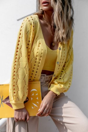 Cardigan Sunny Amarelo