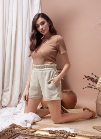 Shorts Flower Abacate
