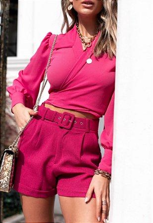 Camisa Cropped Liberty Pink