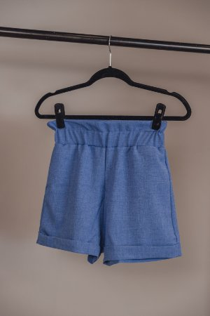 Shorts Flower Azul Denim