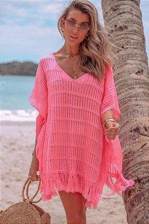 Saída de Praia Sunny Rosa Neon