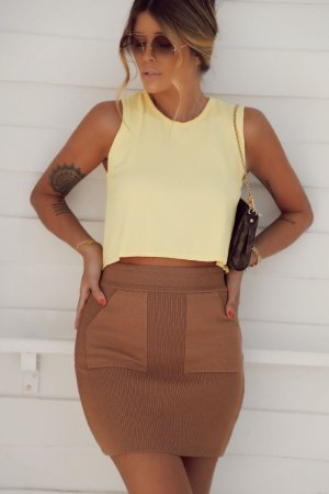 Cropped Wind Amarelo