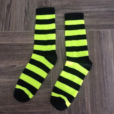 Listrada Preto e Amarelo Neon