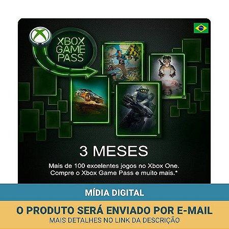 Cartão Xbox Game Pass 3 Meses - Microsoft